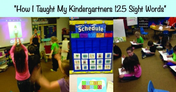 How I Taught My Kindergartners 125 Sight Words