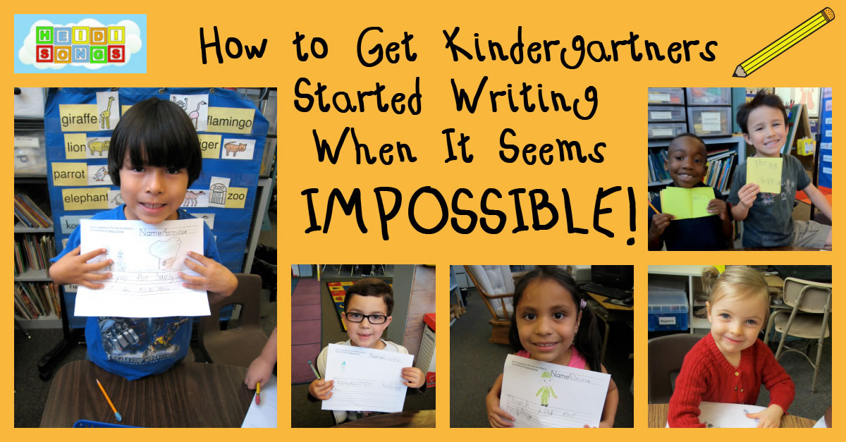 Getting Kindergartners Started Writing When It Seems Impossible
