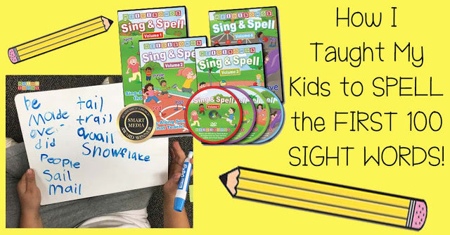 How I Taught My Kids to SPELL the FIRST 100 SIGHT WORDS!