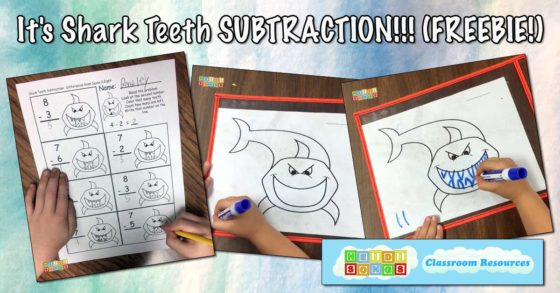 It's Shark Teeth SUBTRACTION!!! (FREEBIE!)