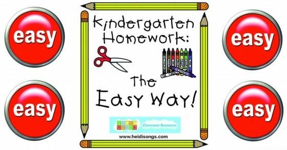Kindergarten Homework - The Easy Way!