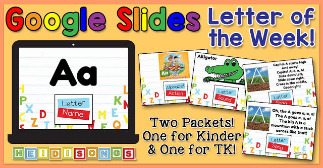 Google Slides for the Letter of the Week Focus Wall Set!