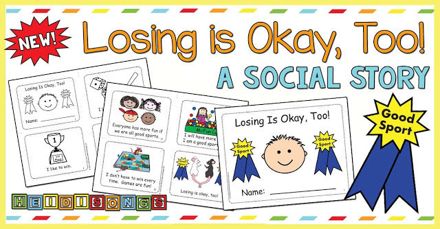 New! 'Losing is Okay, Too' Social Story for Good Sportsmanship!