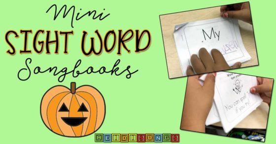 Mini Sight Word Songbooks!
