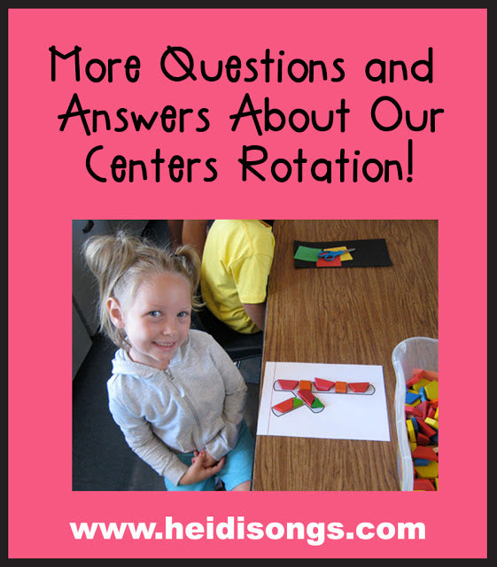More Questions & Answers About Our Centers Rotation!
