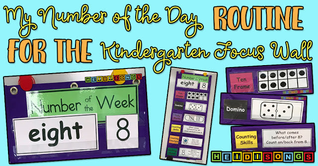 My Number of the Day Routine for the Kindergarten Focus Wall!