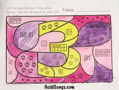 Hidden Numbers 1-30 Worksheets!