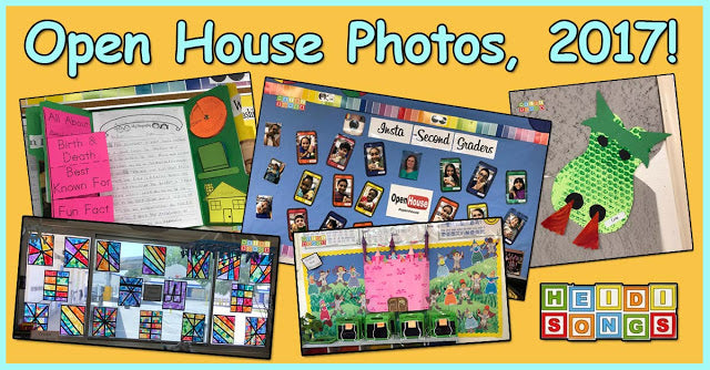 Second Grade Open House Photos! Fairy Tale Activities and More!