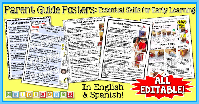 Parent Guide Posters: Essential Skills for Early Learning!