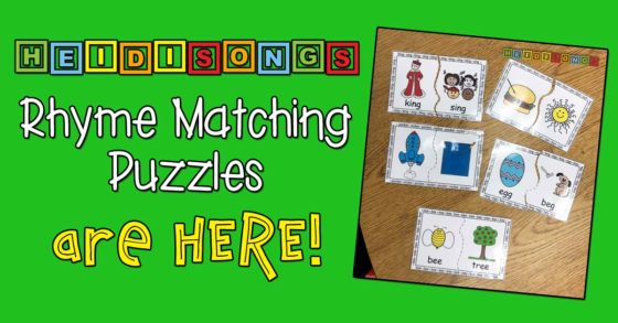 HeidiSongs Rhyme Matching Puzzles are HERE!