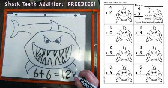 Shark Teeth Addition: Math on My Mind!