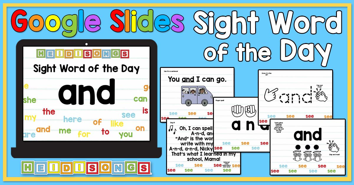 Sight Word of the Day for Google Slides