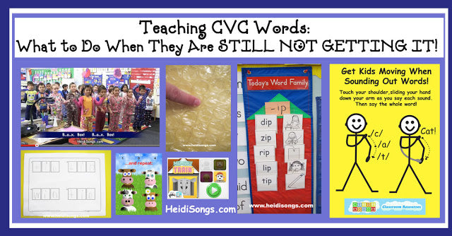 Teaching CVC Words: What to Do When They Are STILL NOT GETTING IT