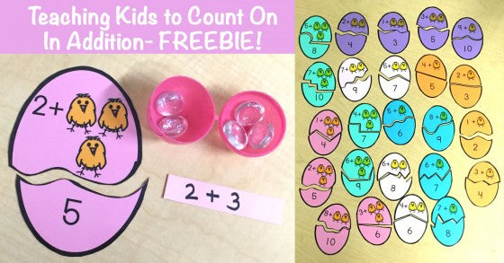 Teaching Kids to Count On in Addition