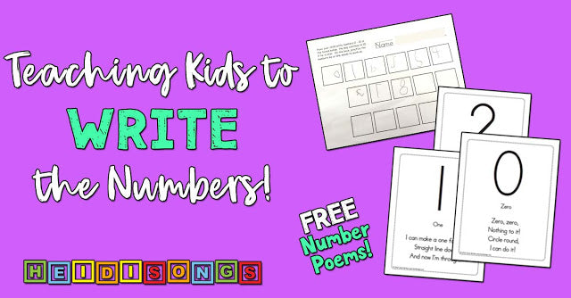 Teaching Kids to Write the Numbers!