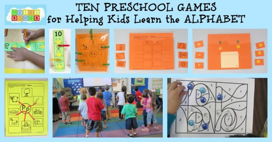 10 Preschool Learning Games: Alphabet Fun!
