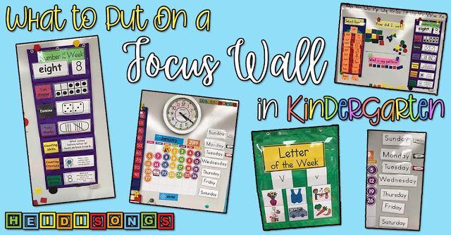 What to Put On a Focus Wall in Kindergarten