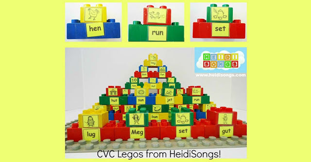 Common Core Literacy Centers: CVC Legos!