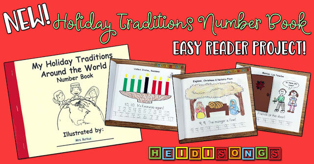 """""""My Holiday Traditions Number Book"""" Easy Reader Project!"""