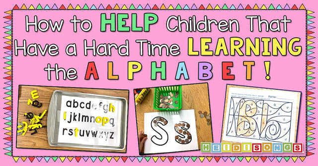 How to Help Children That Have a Hard Time Learning the Alphabet