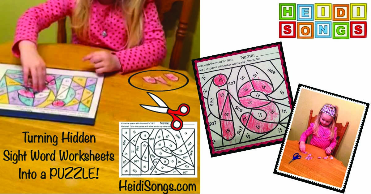 Turning Hidden Sight Words Into a Puzzle