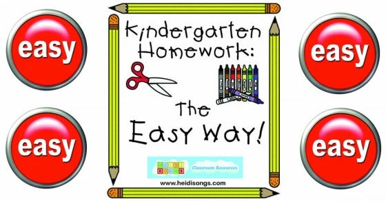 Kindergarten Homework- The Easy Way!