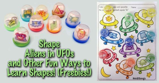 Shape Aliens in UFO's, and Other Fun Ways to Learn Shapes!