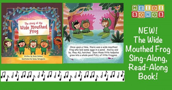 The Wide Mouthed Frog Sing-Along, Read-Along Book