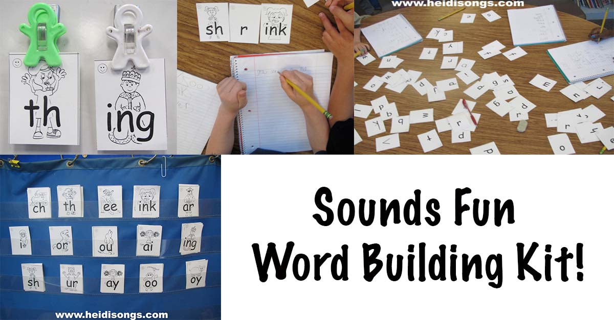 Sounding Out and Making New Words with the New Sounds Fun Word Building Kit!