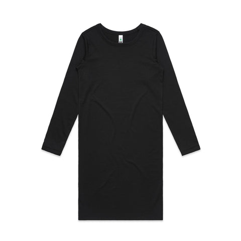Womens Mika Organic Long Sleeve Dress (4033)