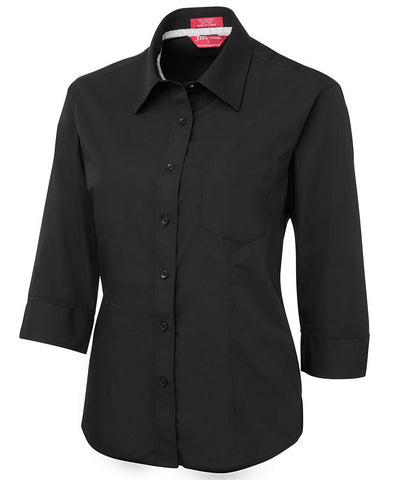 LADIES CONTRAST PLACKET 3/4 SHIRT (4PCL3)