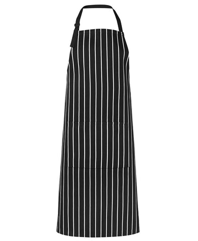Bib Striped Apron With Pockets (5BS)