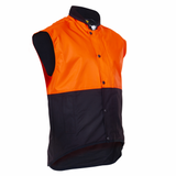 Oilskin D/O Sleeveless Vest - Flouro Orange / Brown (PCO1320)