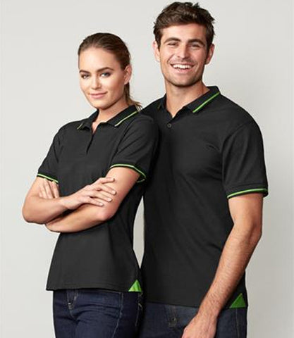 Jet Cotton-Backed Polo (P226MS/P226LS)