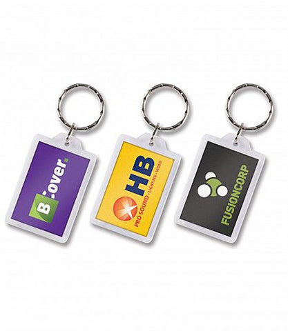 Rectangular Lens Key Ring (100292)