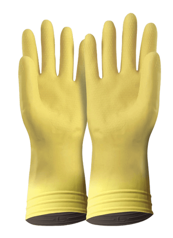 Yellow Silverlined Rubber Glove