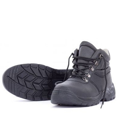Bison Duty Lace Up Leather Safety Boot (Bison01BLA)