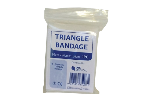 Triangle Bandage - 2 Safety Pins (110cm x 110cm x 156cm)