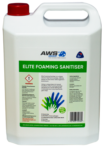 Elite Foaming Hand Sanitiser (5L)