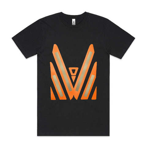 Hi Vis Printed Tee (Gold/Orange)
