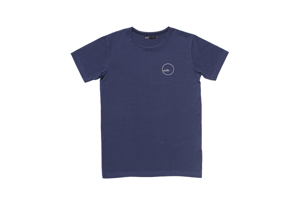 Subtle Ghost Tee - Navy