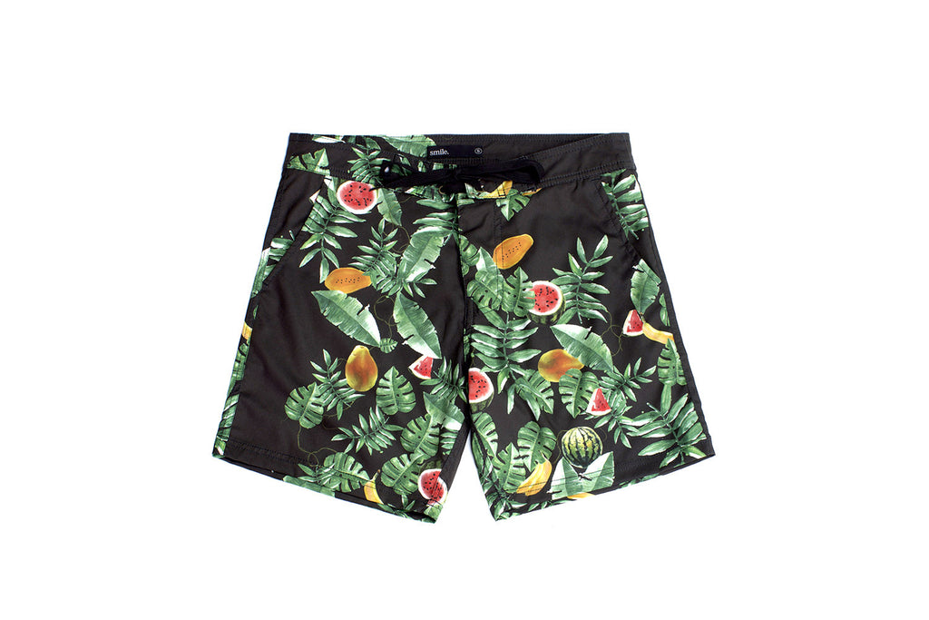 Morning Fruits Boardshort - Black