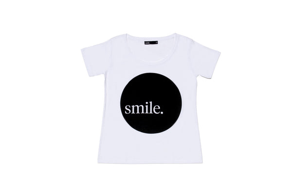 Womens Smile Circle Tee - White