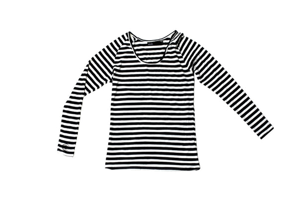 Womens Scoop Tee - In Stripes