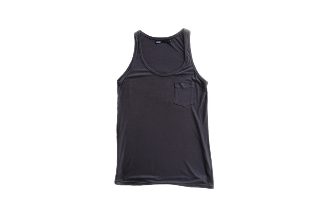 Womens Singlet - Charcoal