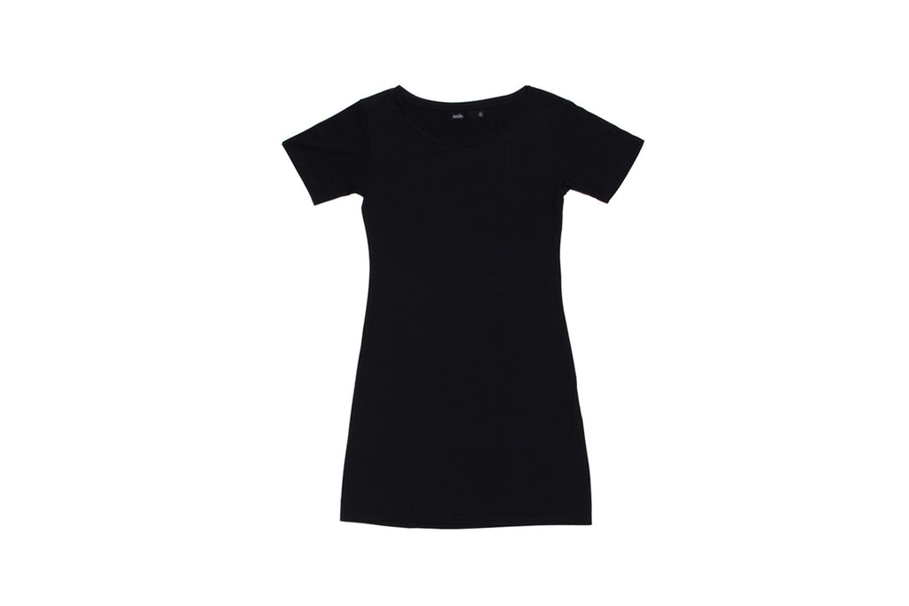 Womens T-Shirt Dress - Black