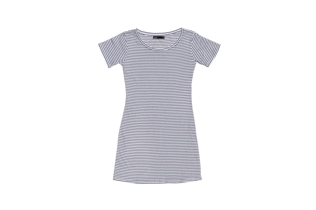 Womens T-Shirt Dress - In Stripes