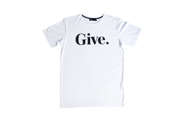 Give Tee - White