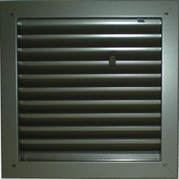 Air Louvers 1900A - FIRE-RATED, ADJUSTABLE Z-BLADE LOUVER