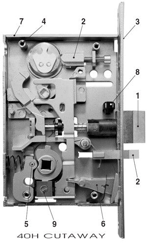 Best 40h Series Mortise Lock Superior Hardware Products
